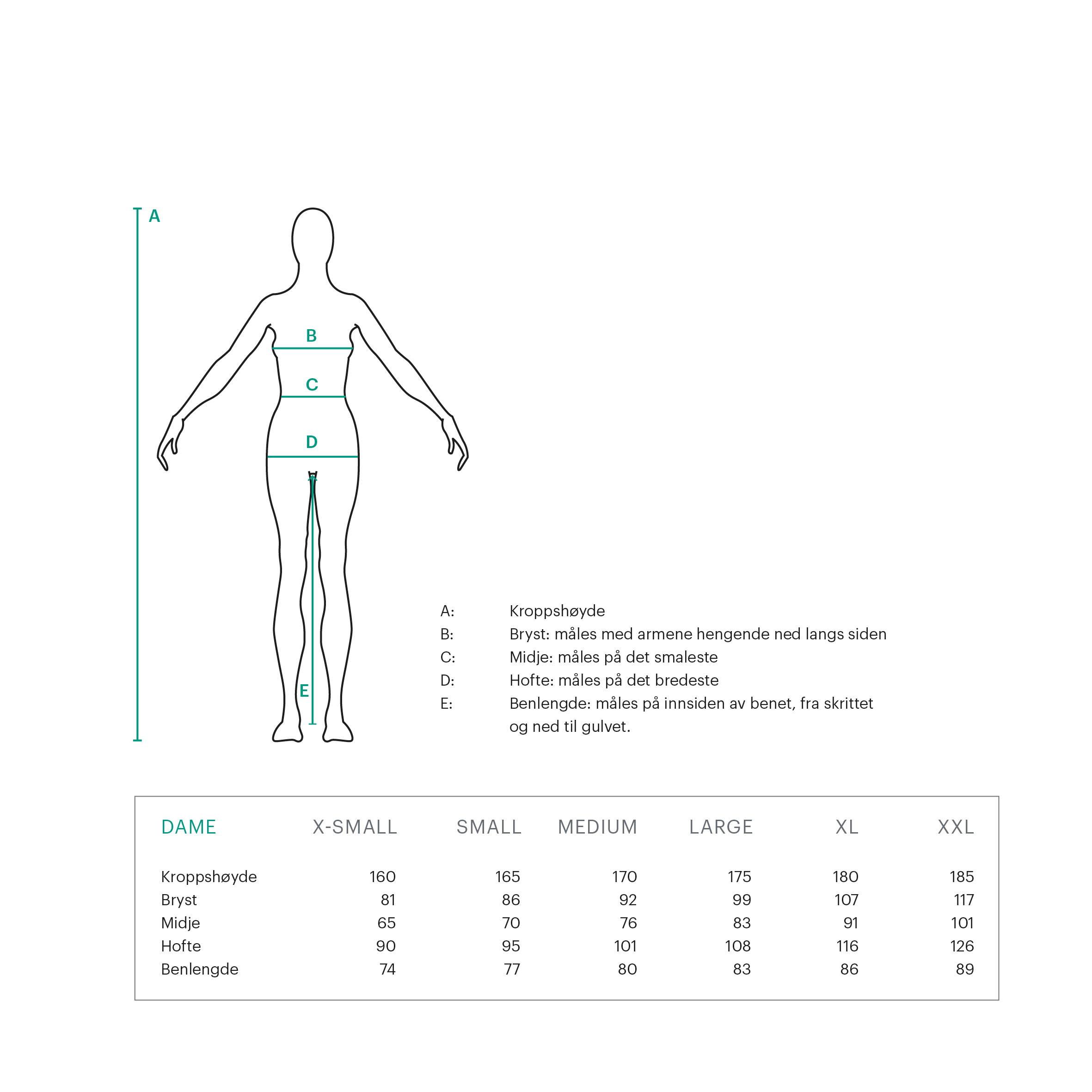 Størrelsesguide – Tufte Wear