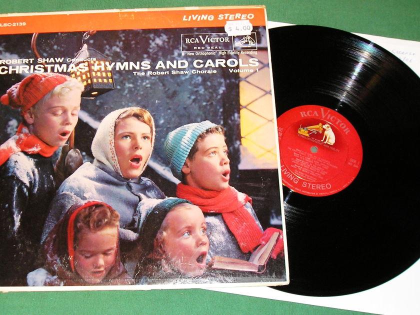 ROBERT SHAW - CHRISTMAS HYMNS & CAROLS Vol.1  - * 1960 RCA VICTOR SHADED DOG *  VINYL NM 9/10