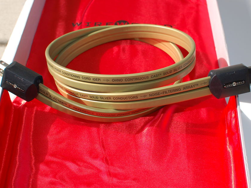 WIREWORLD GOLD ELECTRA 5.2 Power cord 1.5M 15A-Excellent condition- Free shipping