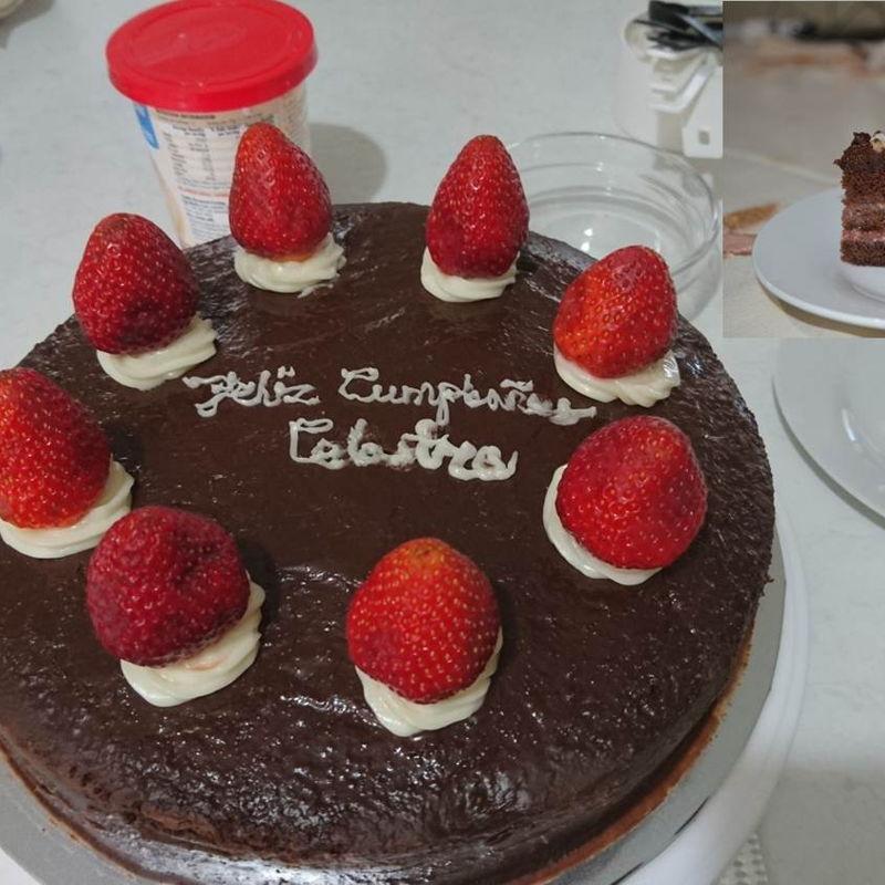 Date: 31 Jan 2020 (Fri) 18th Cake: Chocolate Strawberry Cake [202] [140.4%] [Score: 9.0] Cuisine: Western Dish Type: Cake This cake was prepared for my daughter, Celastra, birthday. Feliz Cumpleaños Celastra [in Spanish Happy Birthday Celastra].