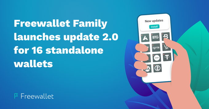 Freewallet releases 2.0 updates for 16 single-currency wallets
