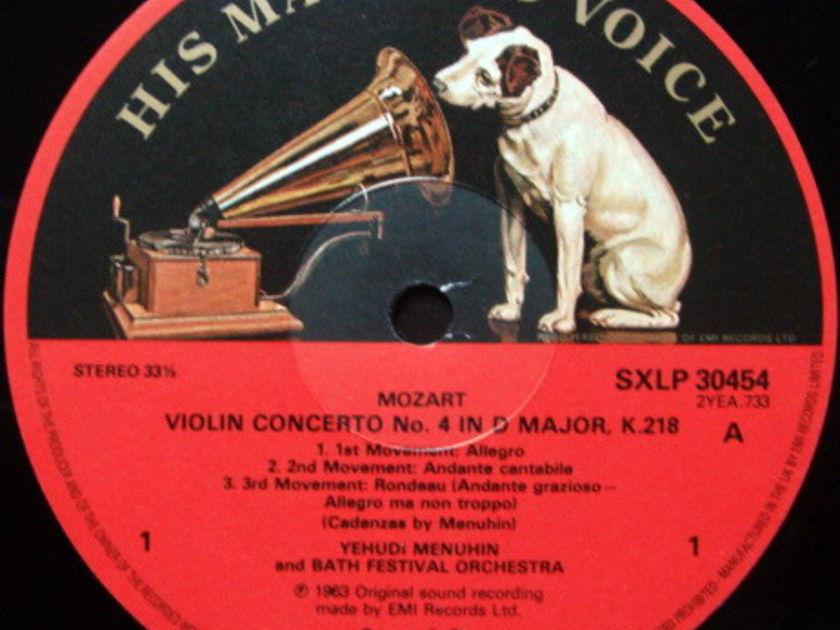 EMI ASD SEMI-CIRCLE / MENUHIN, - Mozart Violin Concertos No.4 & 6, MINT!