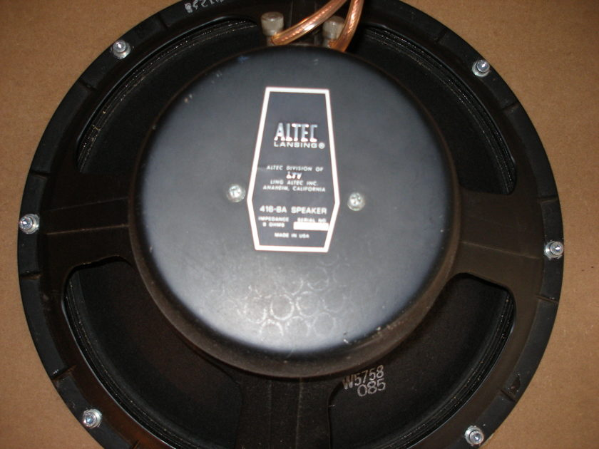 Altec Lansing 416-8a Reference woofers(pair) for selling.