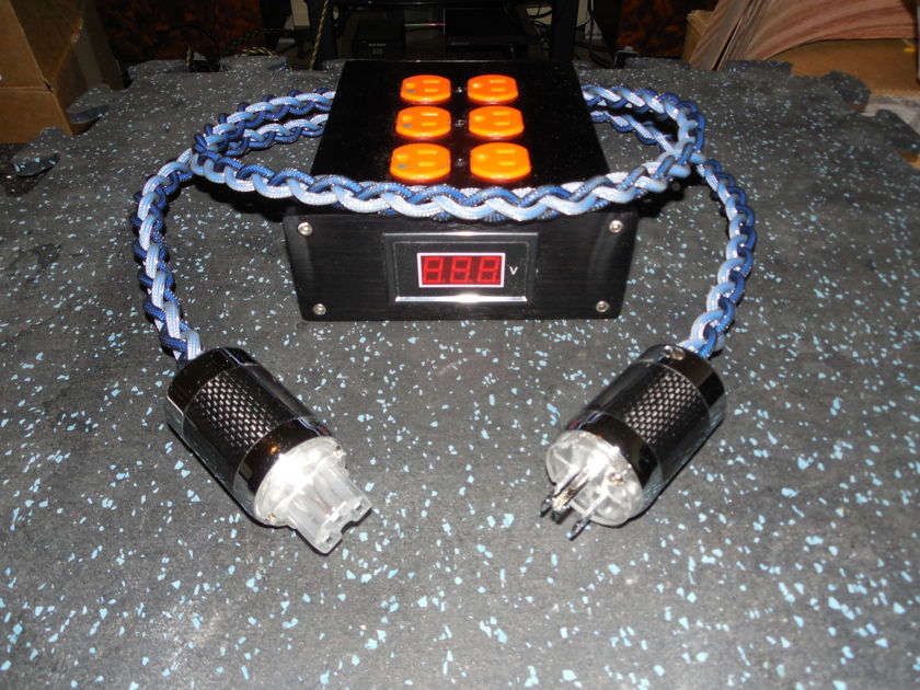 3 Gang Power Strip SILVER / TEFLON / CARBON FIBER