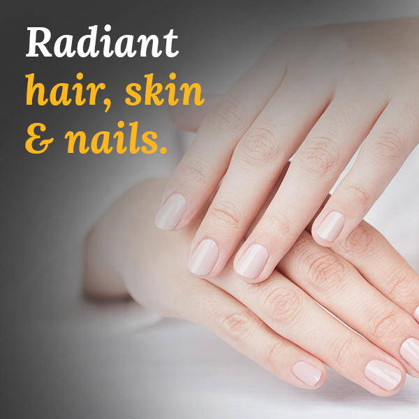 radient hair, skin and nails