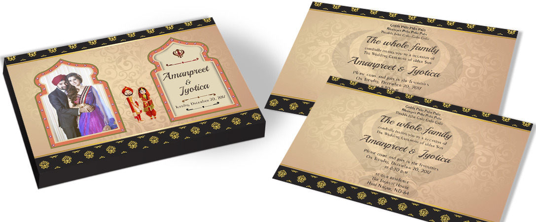 Personalised picture invitation for Sikh Wedding