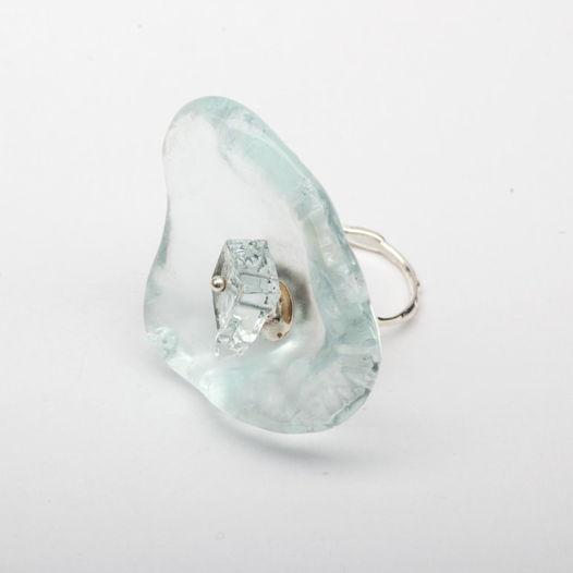 Кольцо Стеклянный цветок