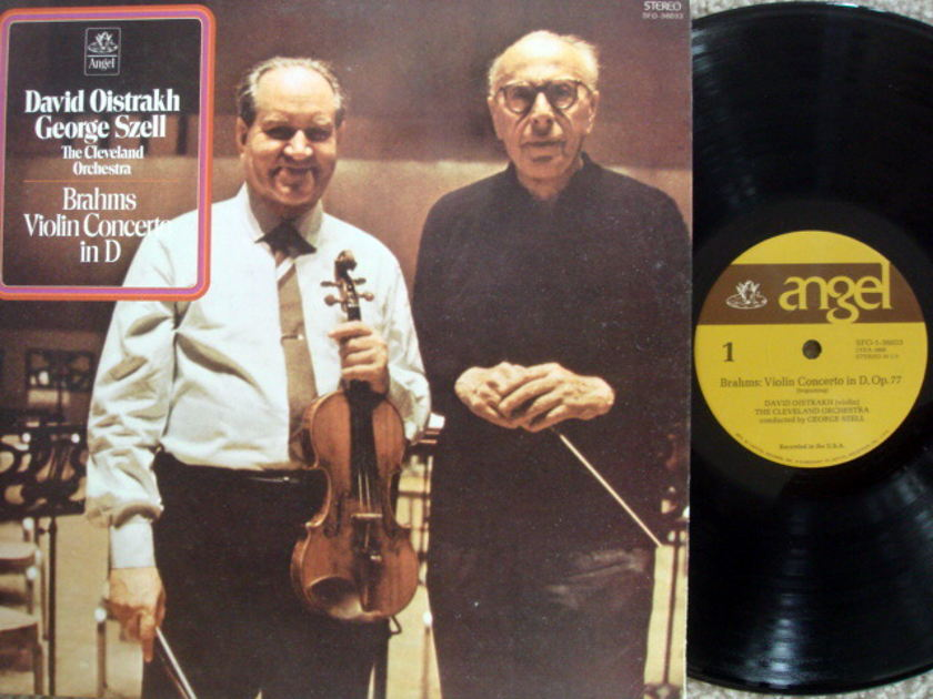 EMI Angel / OISTRAKH/SZELL, - Brahms Violin Concerto, MINT!