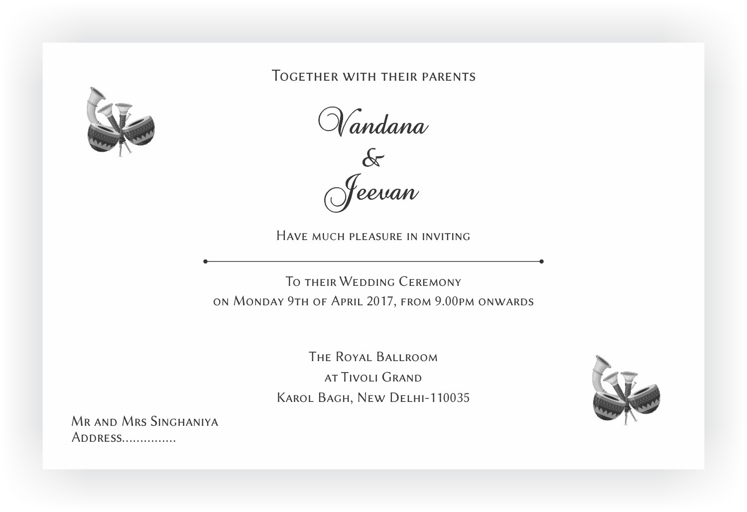 Hindu Wedding Invitation Wordings – CHOCOCRAFT