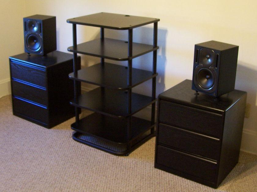 Sanus:  5 Shelf Euro Audio Rack Split Shipping Costs