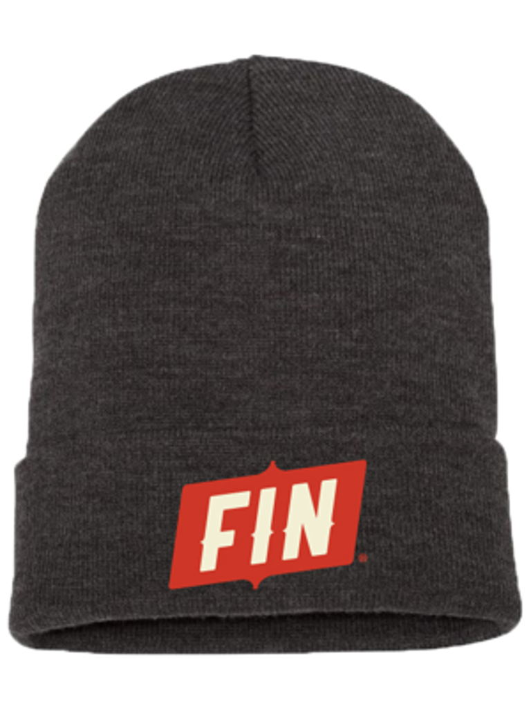 Branded FIN beanie - Charcoal Grey