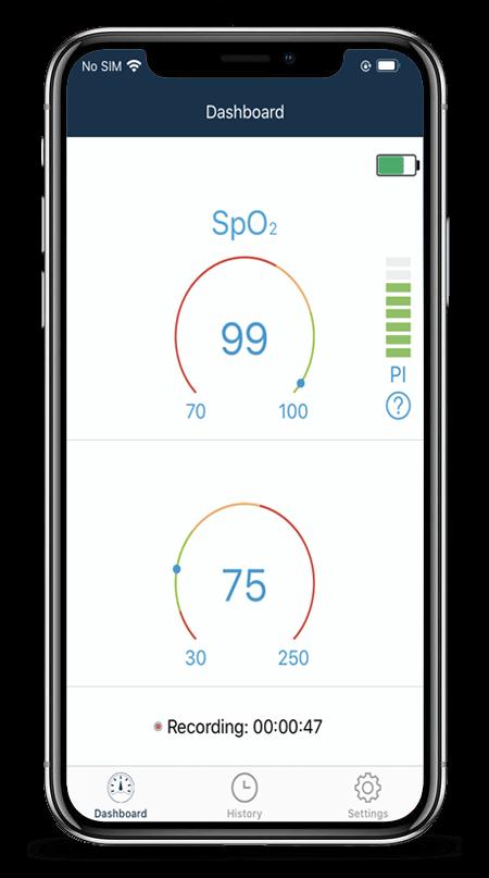 Fingertip Pulse Oximeter with APP