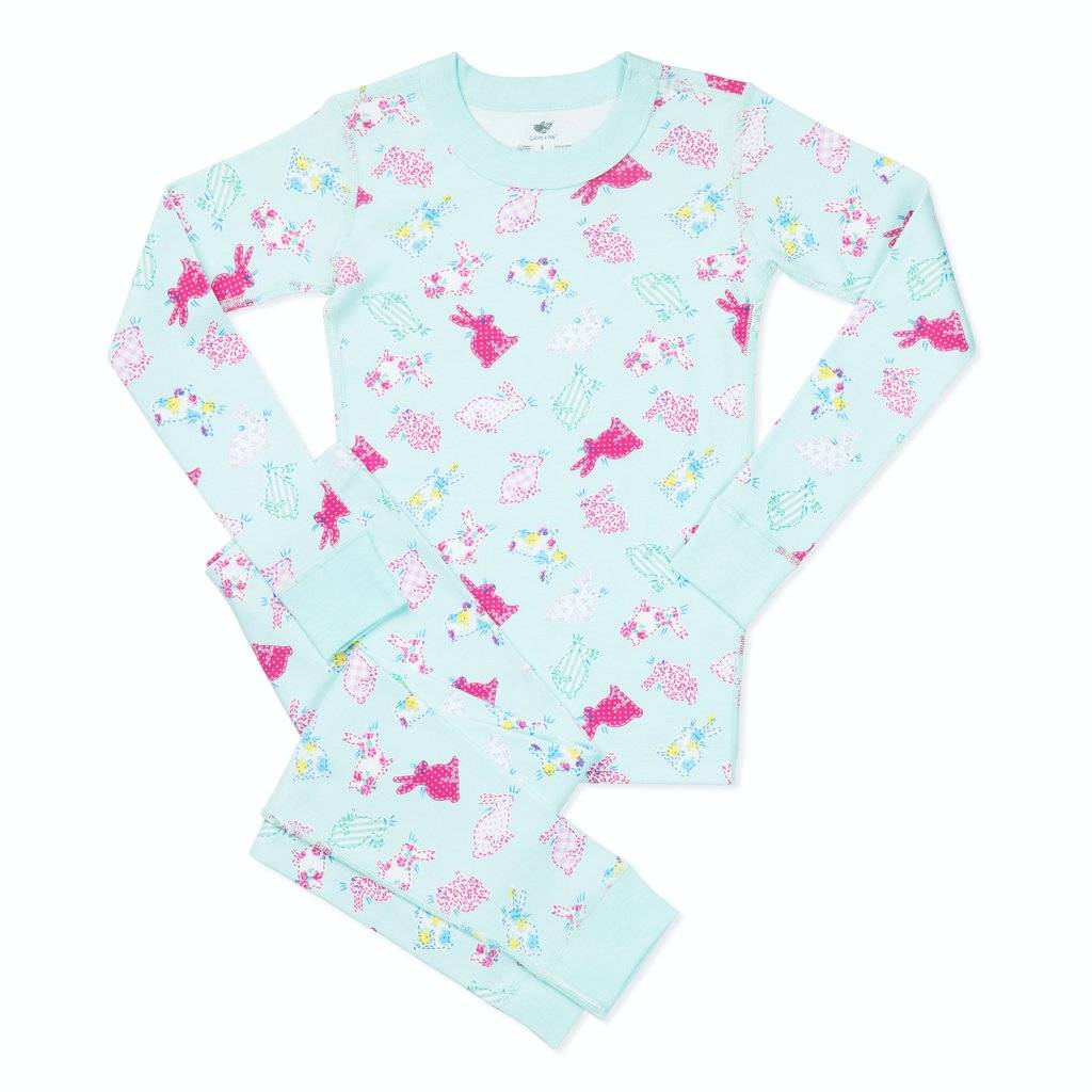Maya Girls Organic Cotton Pajamas Bunny Bloom