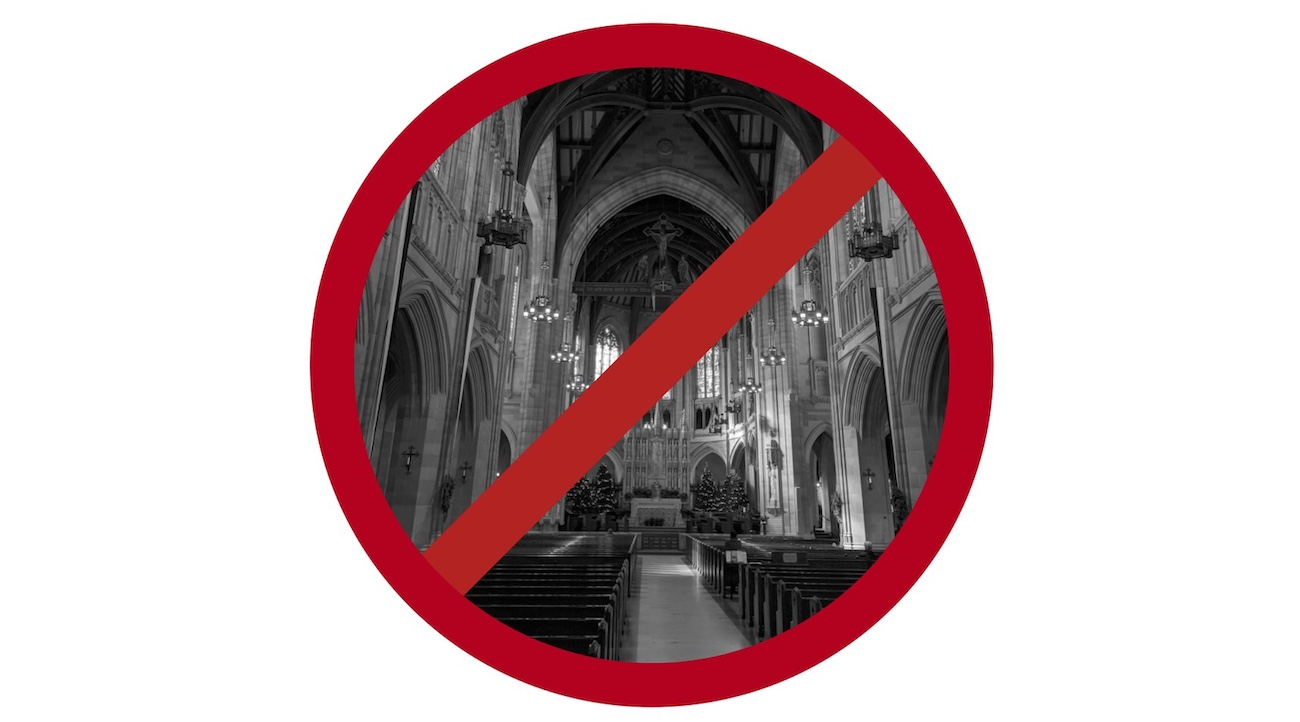 No Churches Allowed–Artwork and Photo by Declan McCullagh