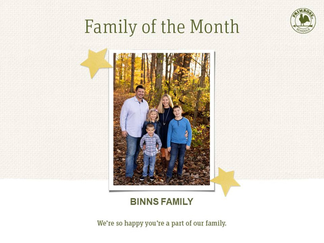 binns march family of the month