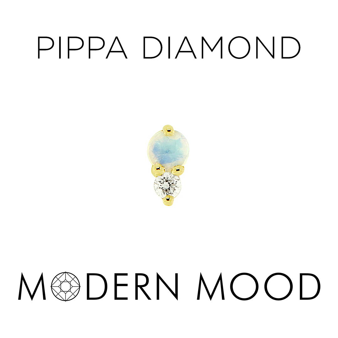 pippa diamond opal moonstone diamond piercing jewelry