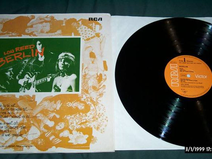 Lou reed - Berlin rca germany gatefold cover nm