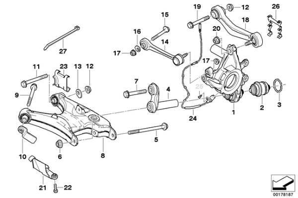 BMW E39 Rear Subframe Eccentrics 33321095102