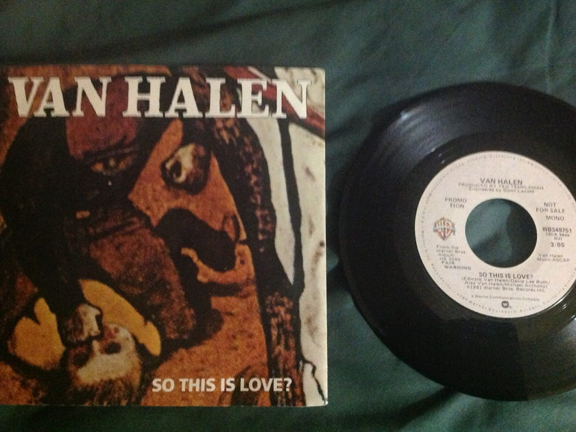 Van Halen - So This Is Love? Promo 45 With Sleeve