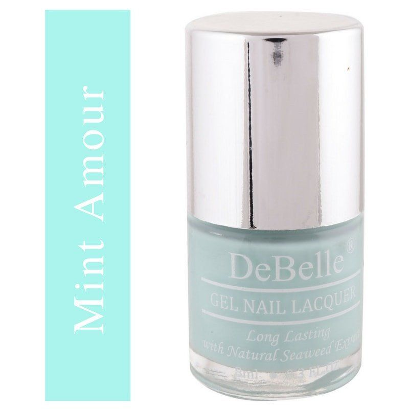 DeBelle Mint blue Nail polish