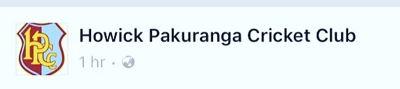 Howick pakuranga cricket club Logo