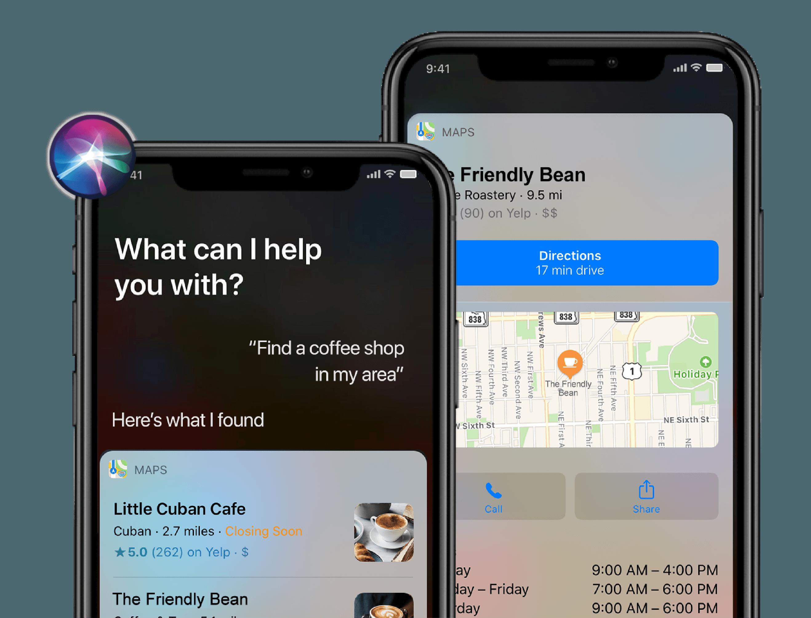 Siri business listing