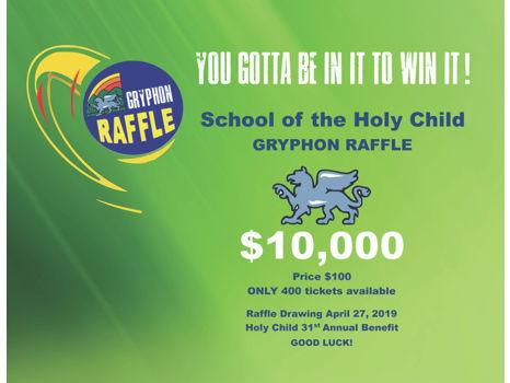 Gryphon Raffle Tickets - Win $10,000!