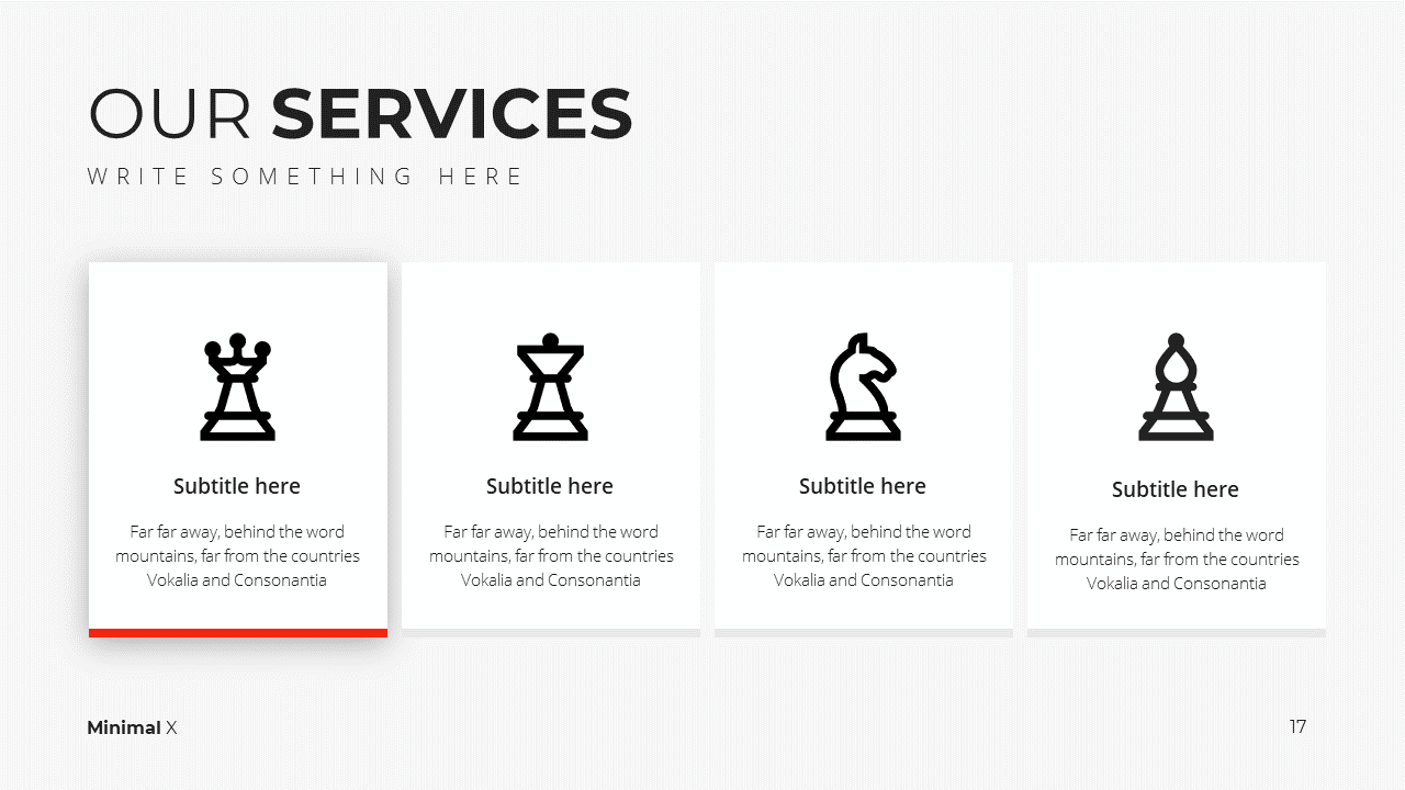Minimal X Presentation Template Business Plan Services