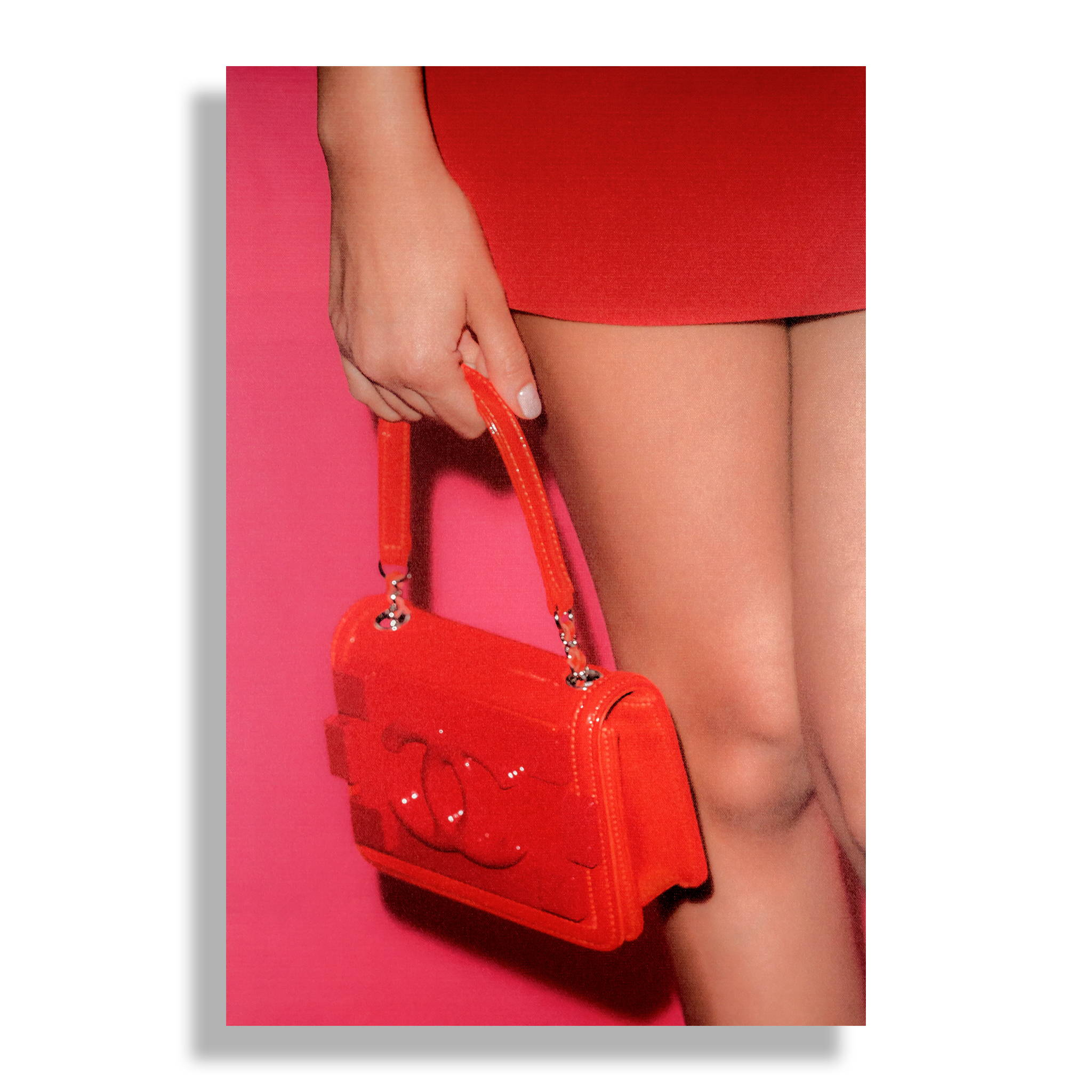 Fashion Wall Art Print - Candy Red - Recoveted