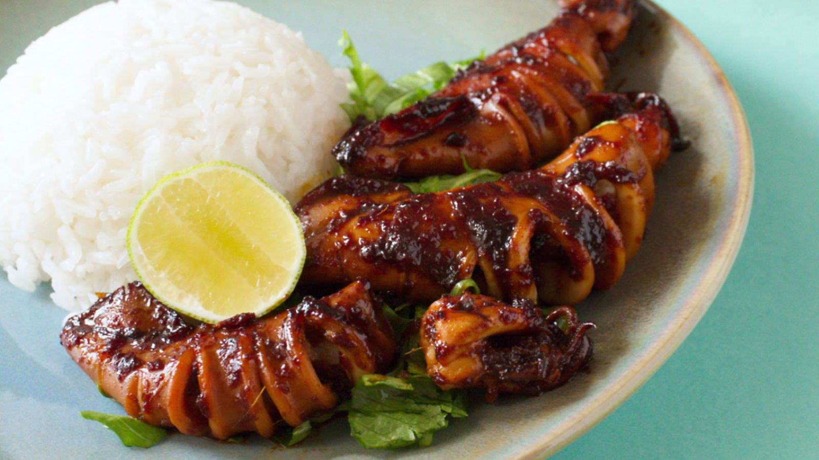 Grilled Squids in Sweet Soy Sauce