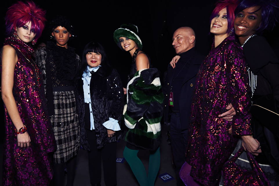 Backstage and the Anna Sui Fashion show with Kaia Gerber, Dilone, Anna Sui, Taylor Hill, Garren and Bella Hadid