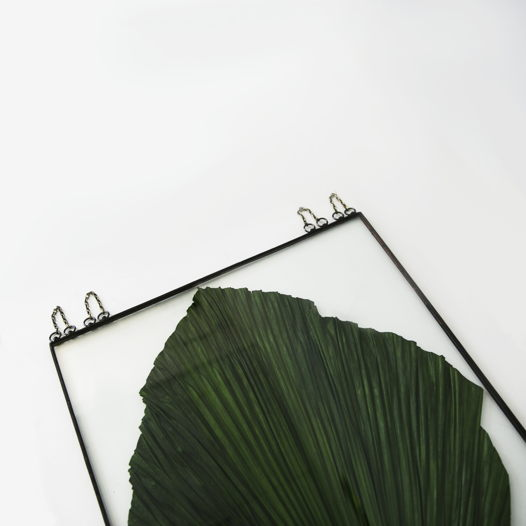 """Гербариум (Цветы в стекле) """"AnaKhay"""" с листом пальмы Ана Хай"""