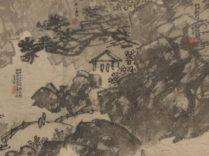 Landscape in Contemplation; Dao Yan, 1382, Ink and color on paper, Gift of the Ewing Halsell Foundation in honor of Mr. And Mrs. W.H. George