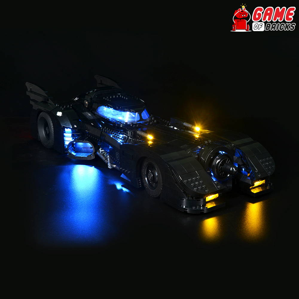 lego batmobile lights