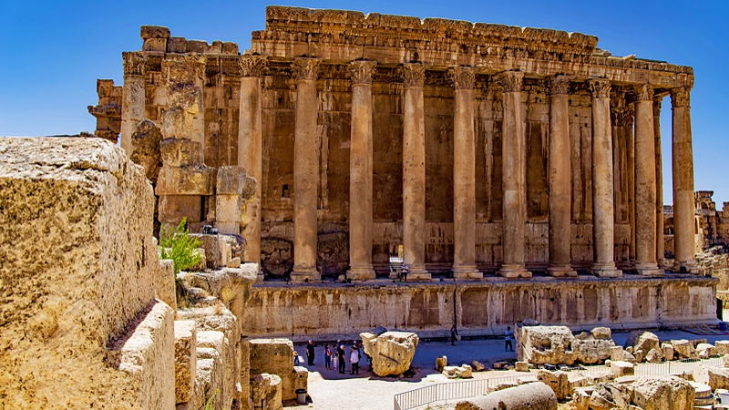 Ancient ruins of Baalbek, Lebanon