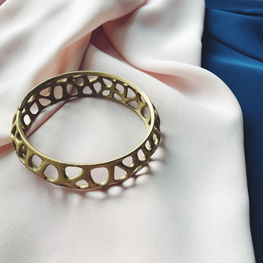 """Браслет """"Voronoi"""" скифское золото"""