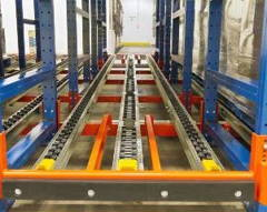 Pallet Flow Racking with Rollers Orange