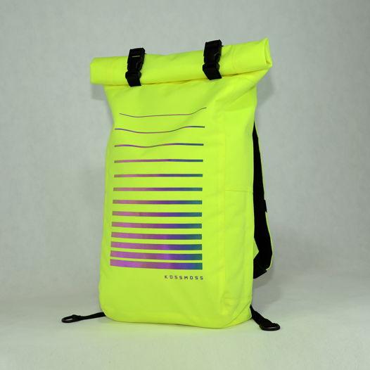 """Лимонный ролл топ рюкзак со светоотражающим принтом """"хамелеон"""" / Lime Green Reflective Bag"""