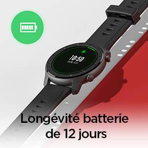 Amazfit GTR 42 mm - Longévité batterie de 12 jours