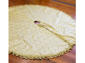 Gold Christmas Tree Skirt by Silk Source