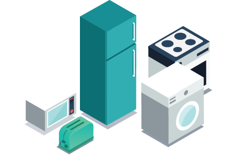 various appliances for removal and recycling
