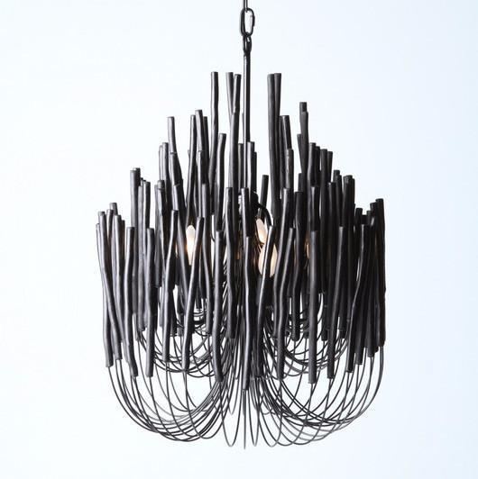 rustic organic chandelier