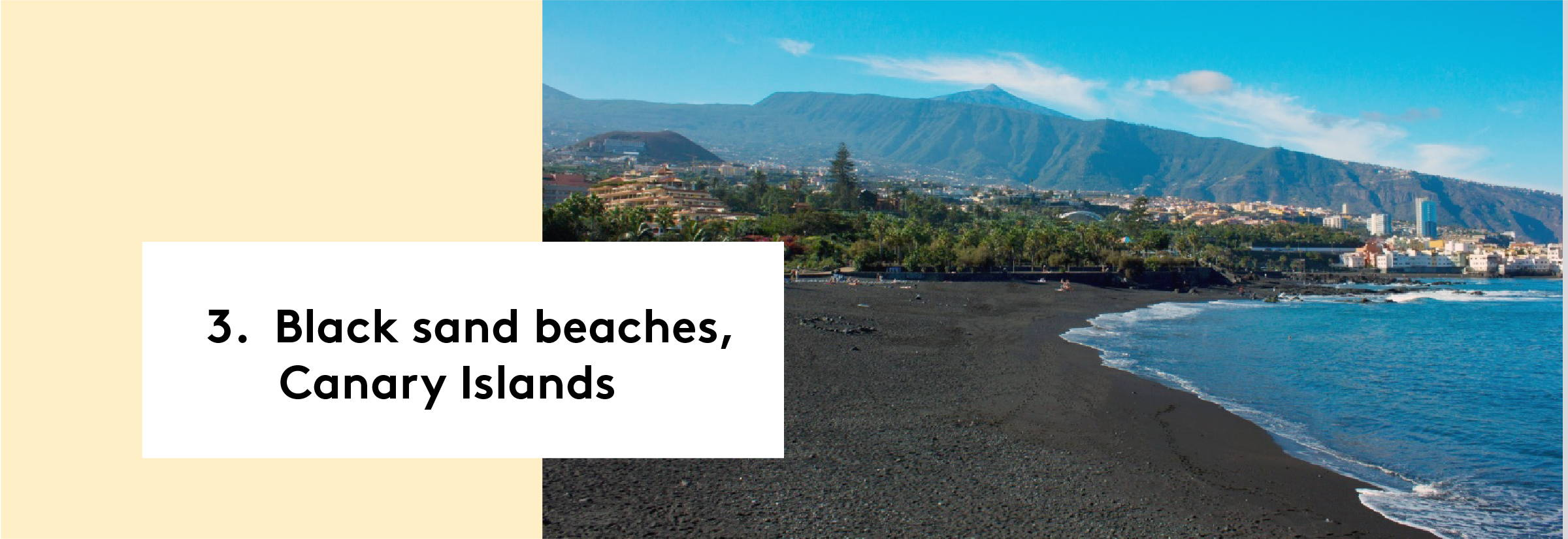 Black sand beaches, Canary Islands