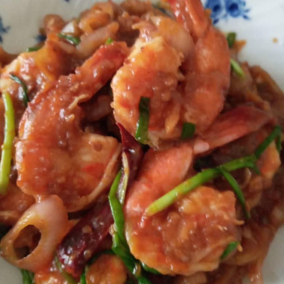 Yummy taucu prawns for lunch! 👍🏻🤗