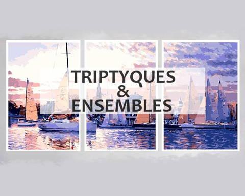 Peinture par numéros collection triptyques & ensembles