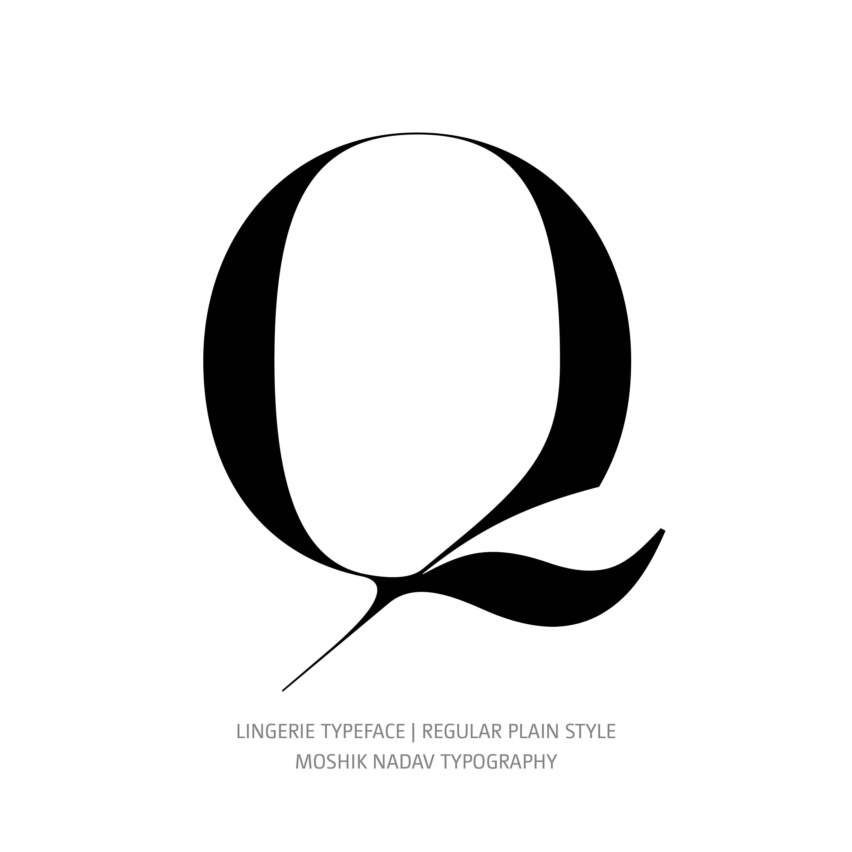 Lingerie Typeface Regular Plain Q