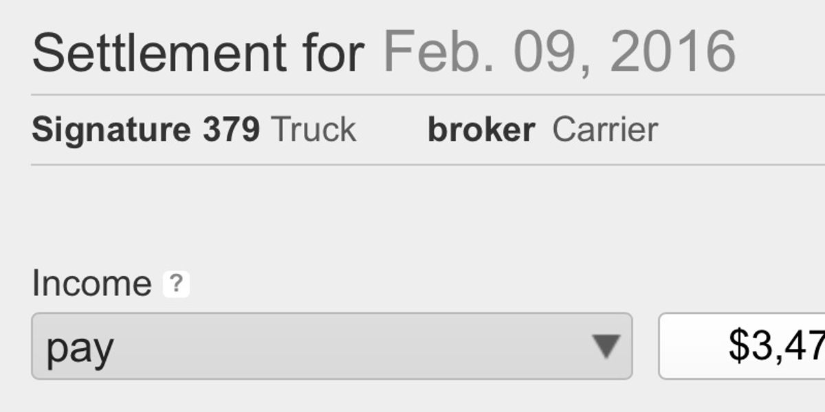 Carrier settlement entry is made easy with Profit Gauges truck accounting software