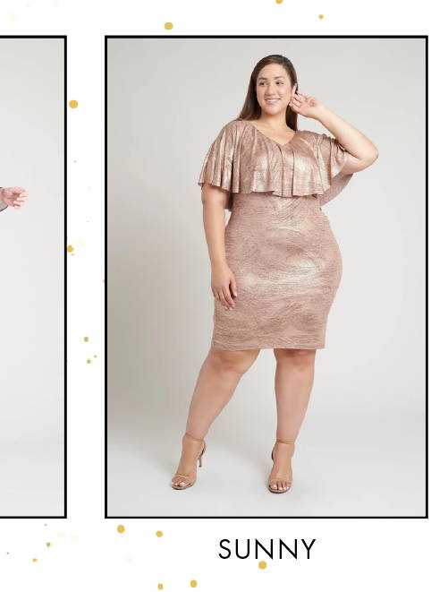 Shop Sunny Rose Gold Foil Printed Dress >
