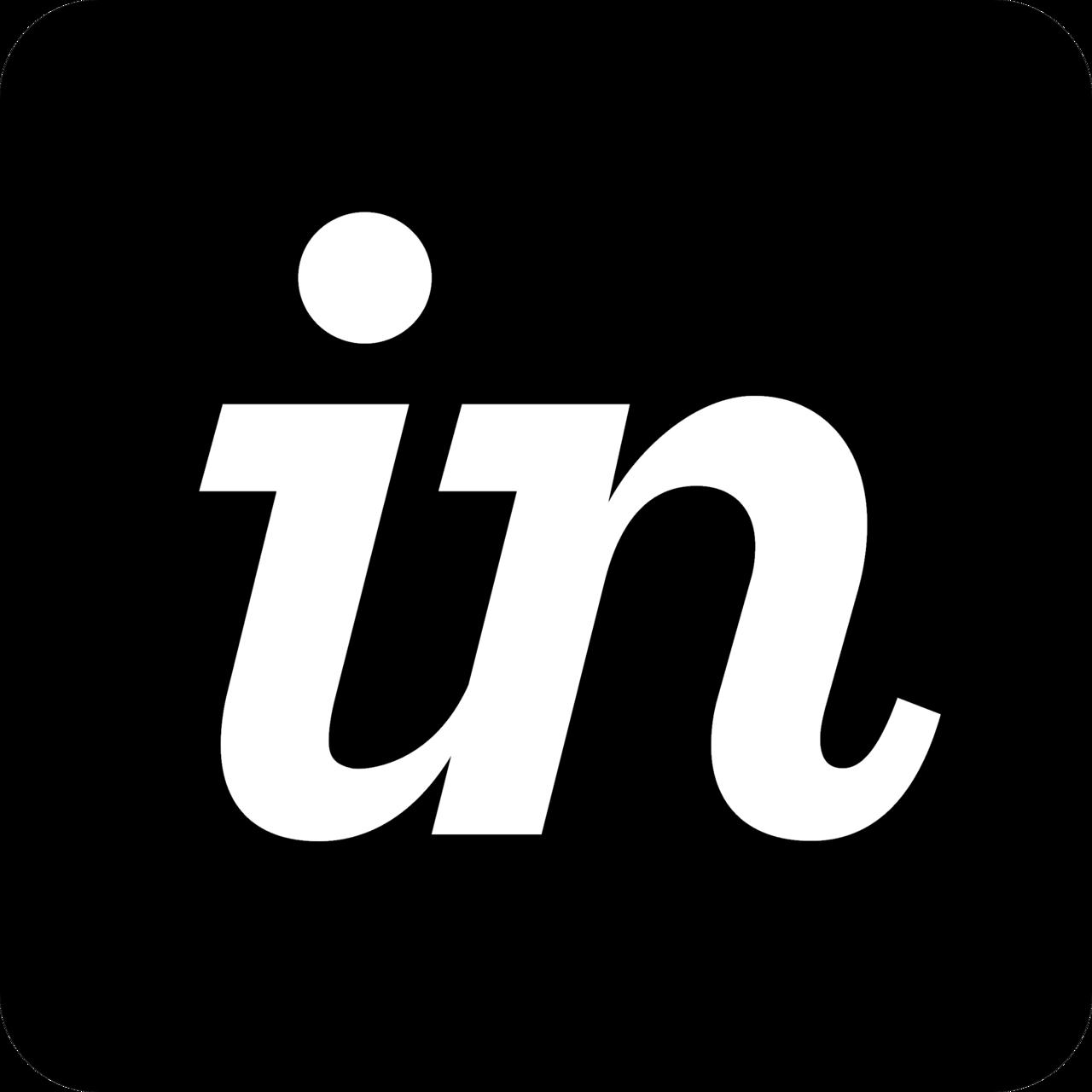 Invision logo black and white