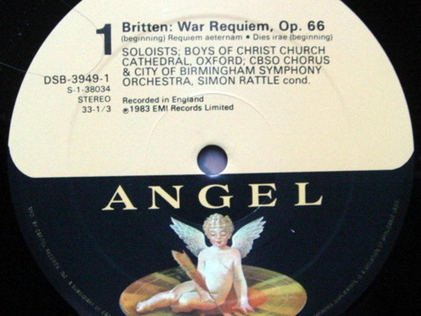 EMI Angel Digital / RATTLE,  - Britten War Requiem,  MINT, 2 LP Set!